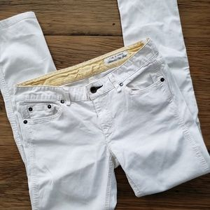 Rag & Bone White Jeans Skinny Lightweight